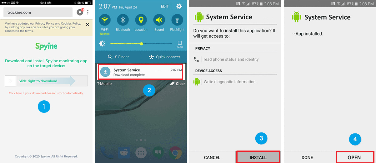 Download app to track someone's android phone